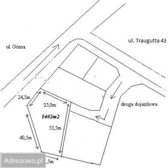 Działka budowlana Chełmża, ul. Romualda Traugutta 43