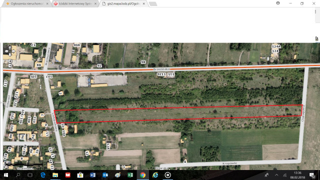Działka rolno-budowlana Łódź Sikawa, ul. Listopadowa 8