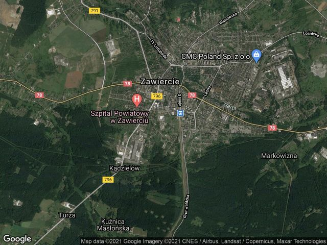 Działka rolna Zawiercie, ul. Żabia