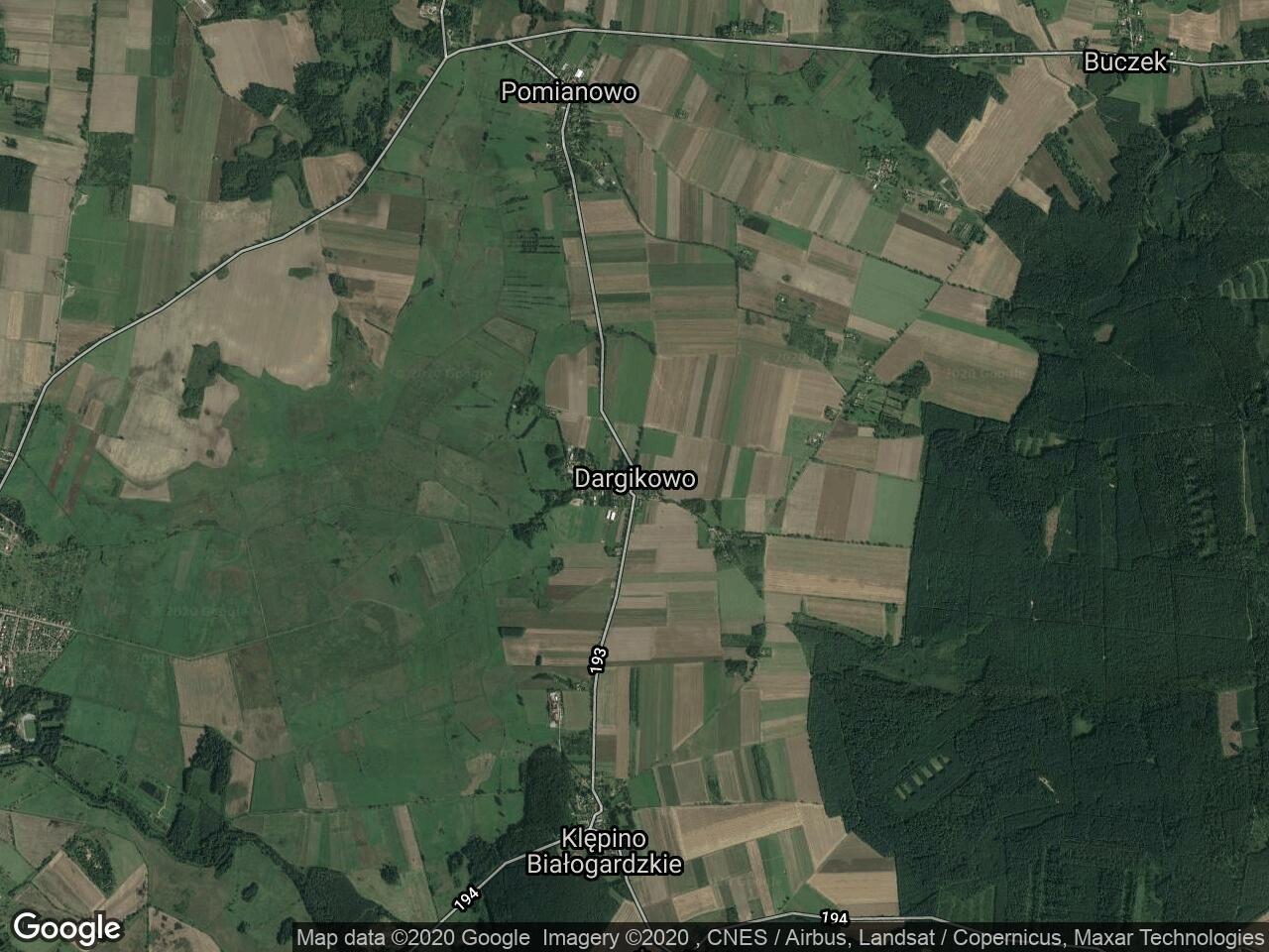 Działka rolna Dargikowo