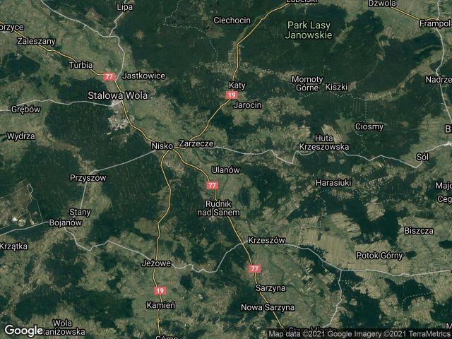 Działka leśna Ulanów Zwolaki