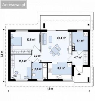 dom wolnostojący, 3 pokoje Mińsk Mazowiecki