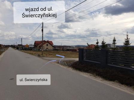 Działka budowlana Masłów Pierwszy Świerczyny, ul. Świerczyńska