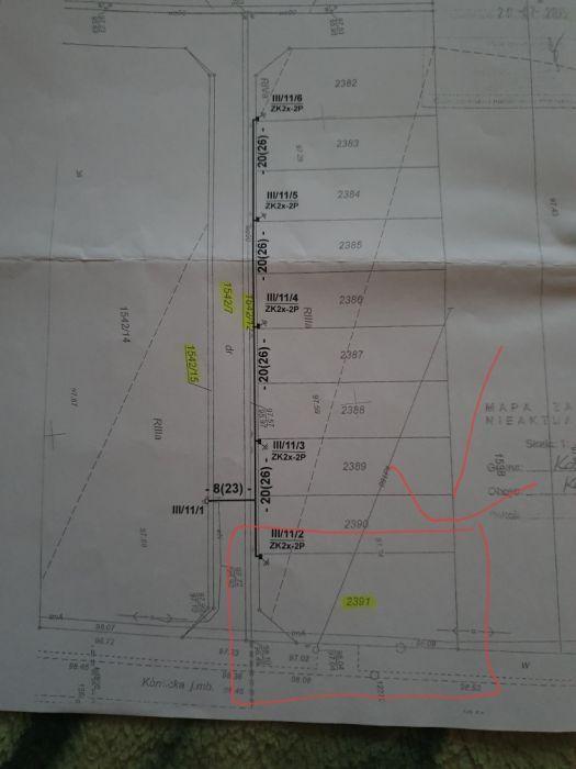 Działka budowlana Kostrzyn, ul. Kórnicka