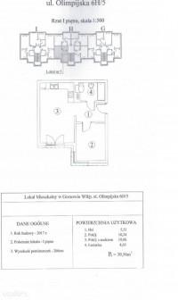 Mieszkanie 2-pokojowe Gorzów Wielkopolski, ul. Olimpijska