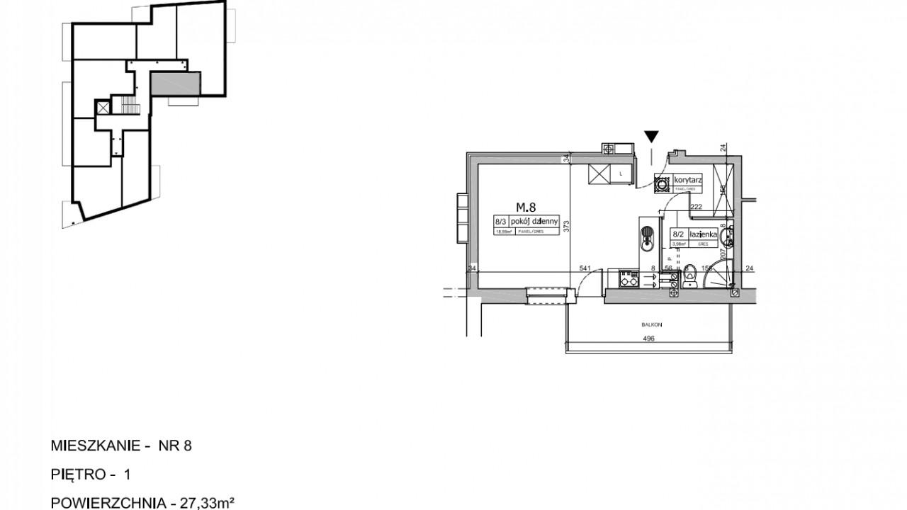 Mieszkanie 1-pokojowe Mońki, ul. Białostocka 83B