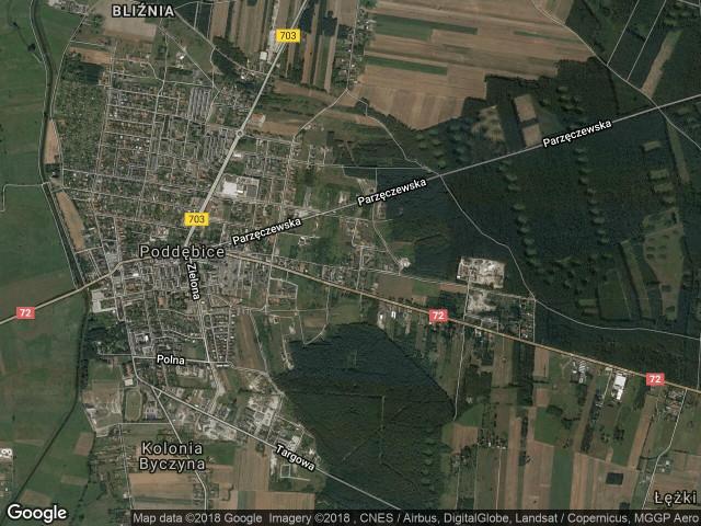 Działka budowlana Poddębice, ul. Partyzantów 112