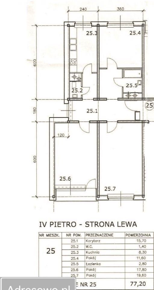 Mieszkanie 4-pokojowe Poznań Rataje, os. Oświecenia