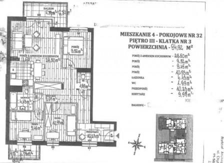 Mieszkanie 4-pokojowe Piaseczno, ul. Książąt Mazowieckich