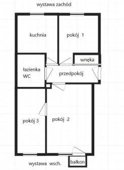 Mieszkanie 3-pokojowe Końskie, ul. mjr. Hubala