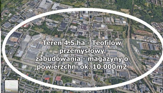 Działka inwestycyjna Łódź Teofilów
