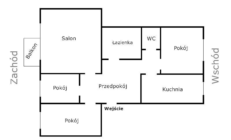 Mieszkanie 4-pokojowe Orneta, ul. Przemysłowa