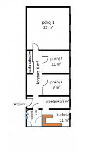 Mieszkanie 3-pokojowe Biała, ul. Armii Krajowej