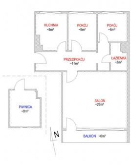 Mieszkanie 3-pokojowe Węgorzewo, ul. Mikołaja Kopernika