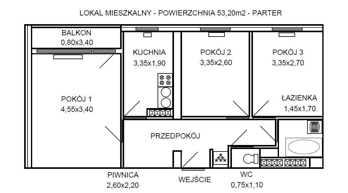 Mieszkanie 3-pokojowe Przemyśl Zasanie, ul. Zygmunta Noskowskiego