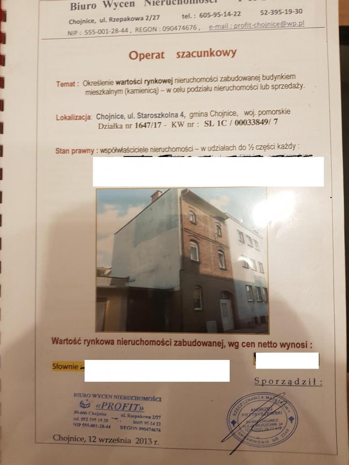Mieszkanie 5-pokojowe Chojnice, ul. Staroszkolna