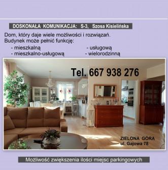 dom wolnostojący, 6 pokoi Zielona Góra Centrum, ul. Gajowa 78