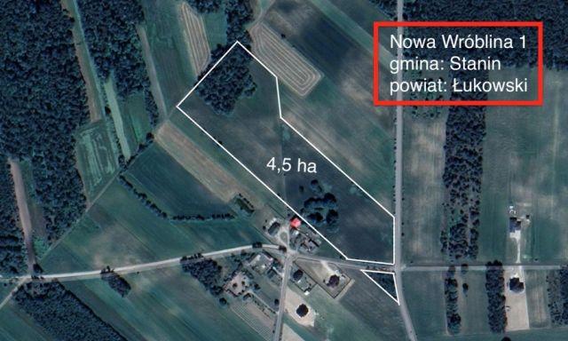 Działka rolno-budowlana Nowa Wróblina, Nowa Wróblina